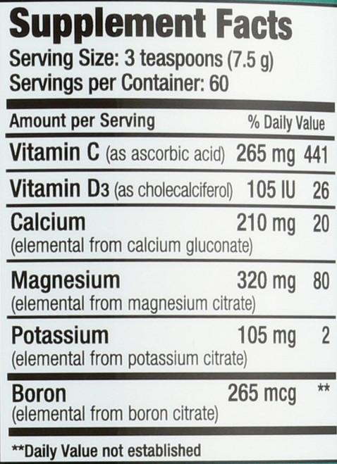 Natural Calm Plus Calcium Raspberry-Lemon Flavor Magnesium-Calcium Drink 16oz 454 G