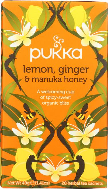 Organic Herbal Tea Lemon, Ginger & Manuka Honey