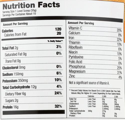 Protein Powder Sunshine Protein Organic 12 Ounce 340 Gram