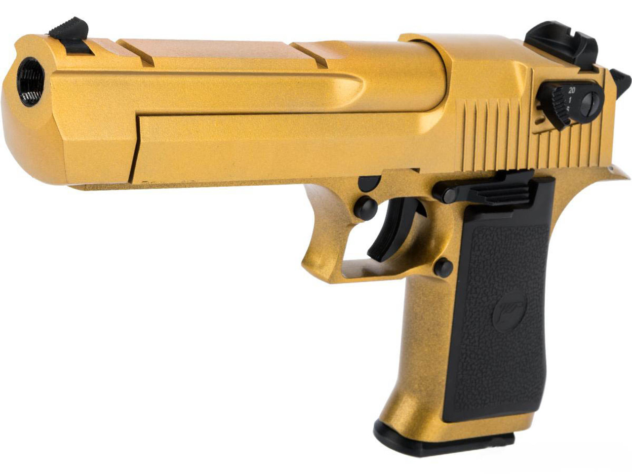 Magnum Research Licensed Semi Full Auto Metal Desert Eagle Co2 Gas Blowback Airsoft Pistol By Kwc W Black Sheep Arms Custom Cerakote Color Gold Hero Outdoors