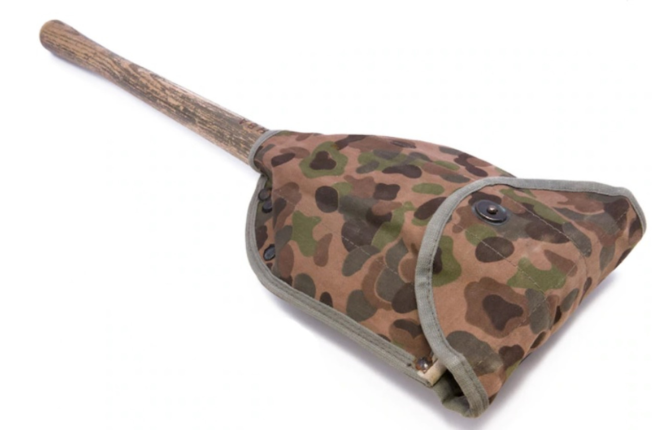 Austrian Army Folding Shovel with Camouflage Cover