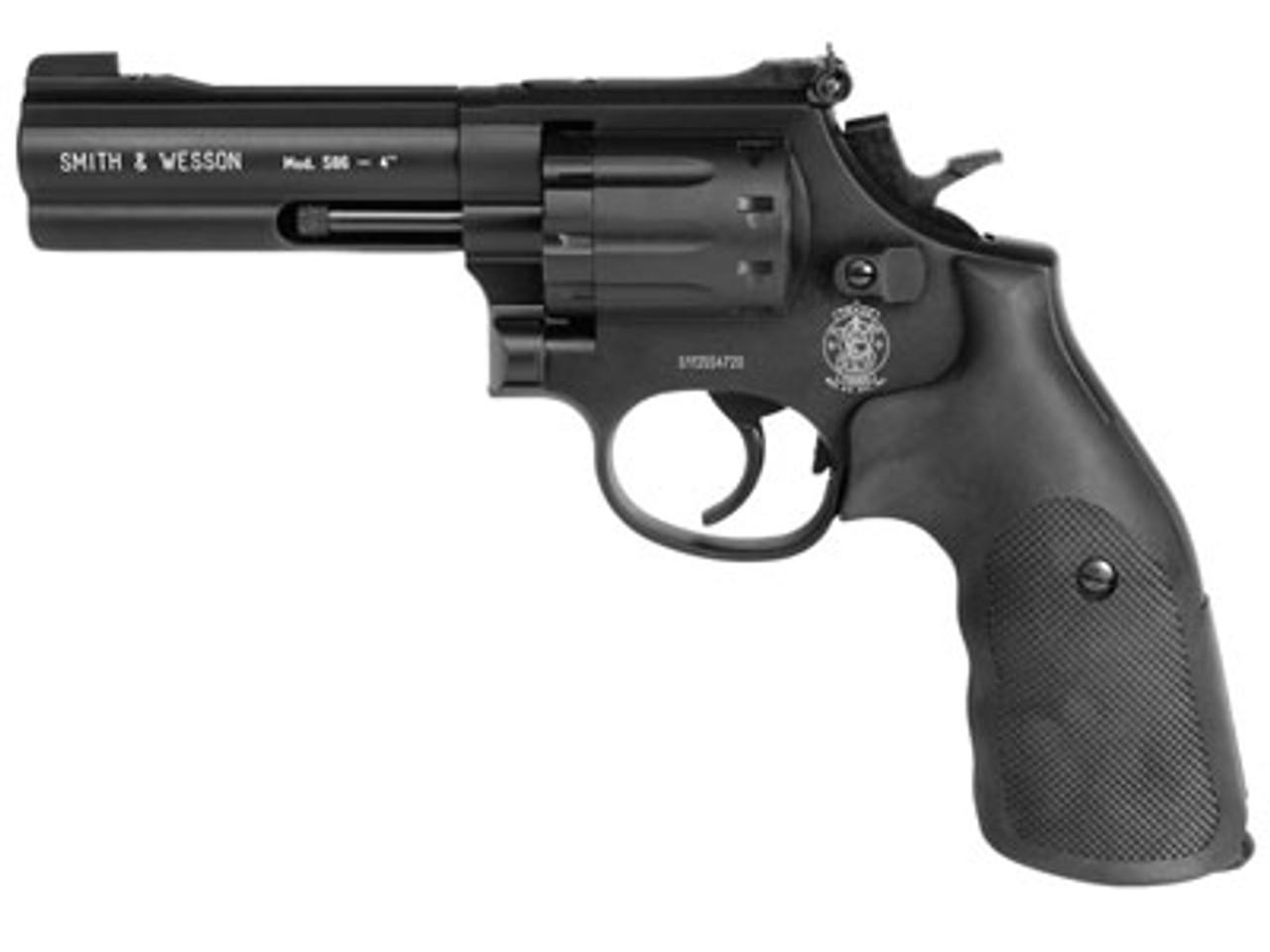 Smith & Wesson 586 4 Inch Barrel Airgun - Black