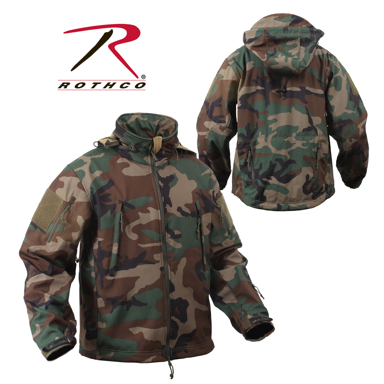 617069cc5 Rothco Special OPS Tactical Soft Shell Jacket - Woodland Camo