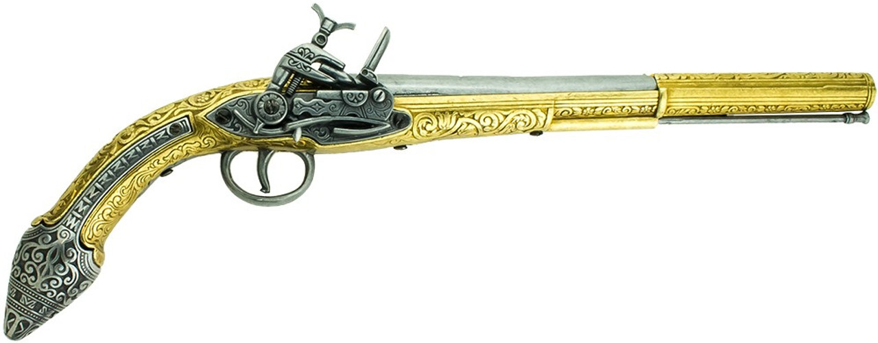 Denix 19th Century Miquelet Lock Replica Flintlock Pistol