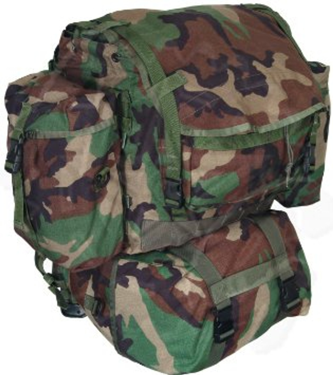 ARMY UTILITY POUCH LARGE MULTI PURPOSE POCKET MOLLE SYSTEM MODULAR WOODLAND CAMO