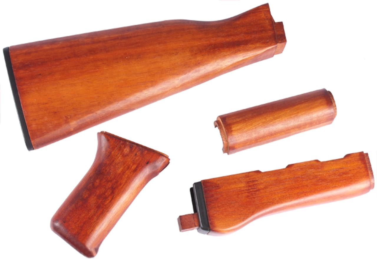Real Hard Wood Furniture Kit For Ak47 Ak Series Airsoft Aeg Hero