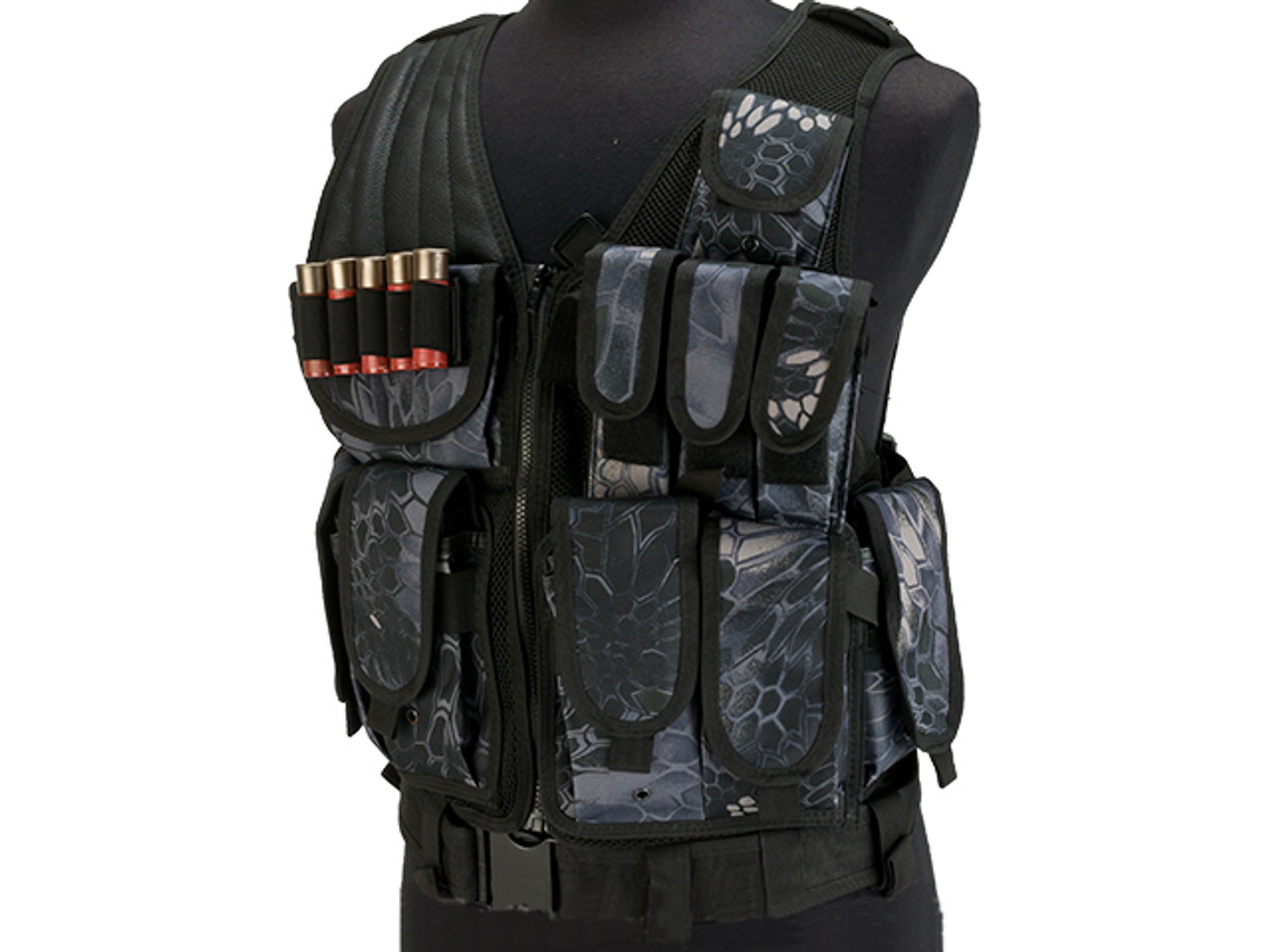 Tactical Cross Draw Shoulder Pistol Gun Holster Black