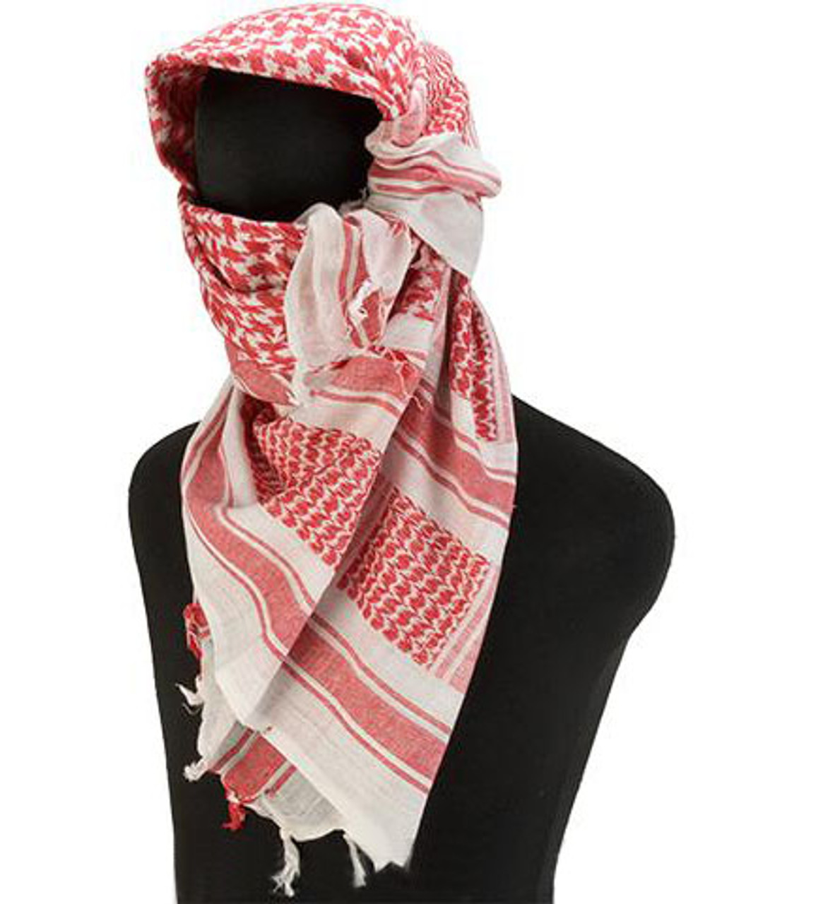 Matrix Woven Coalition Desert Shemagh / Scarves - Red / White ...