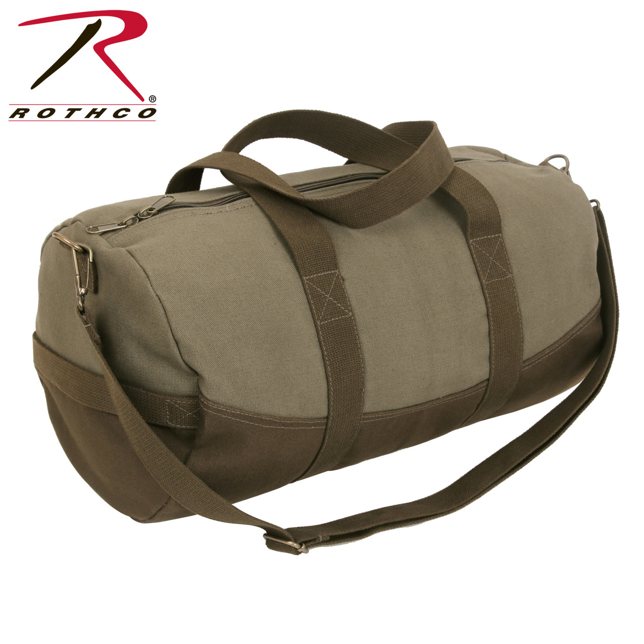 Rothco Two-Tone Canvas Duffle Bag With Brown Bottom - Hero Outdoors 358c98ea9cc33