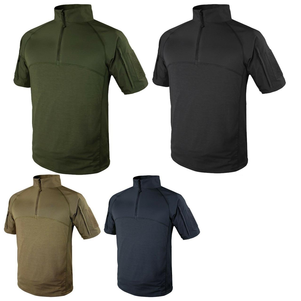 Medium, Navy Blue Condor Outdoor Tactical Short Sleeve Combat Shirt