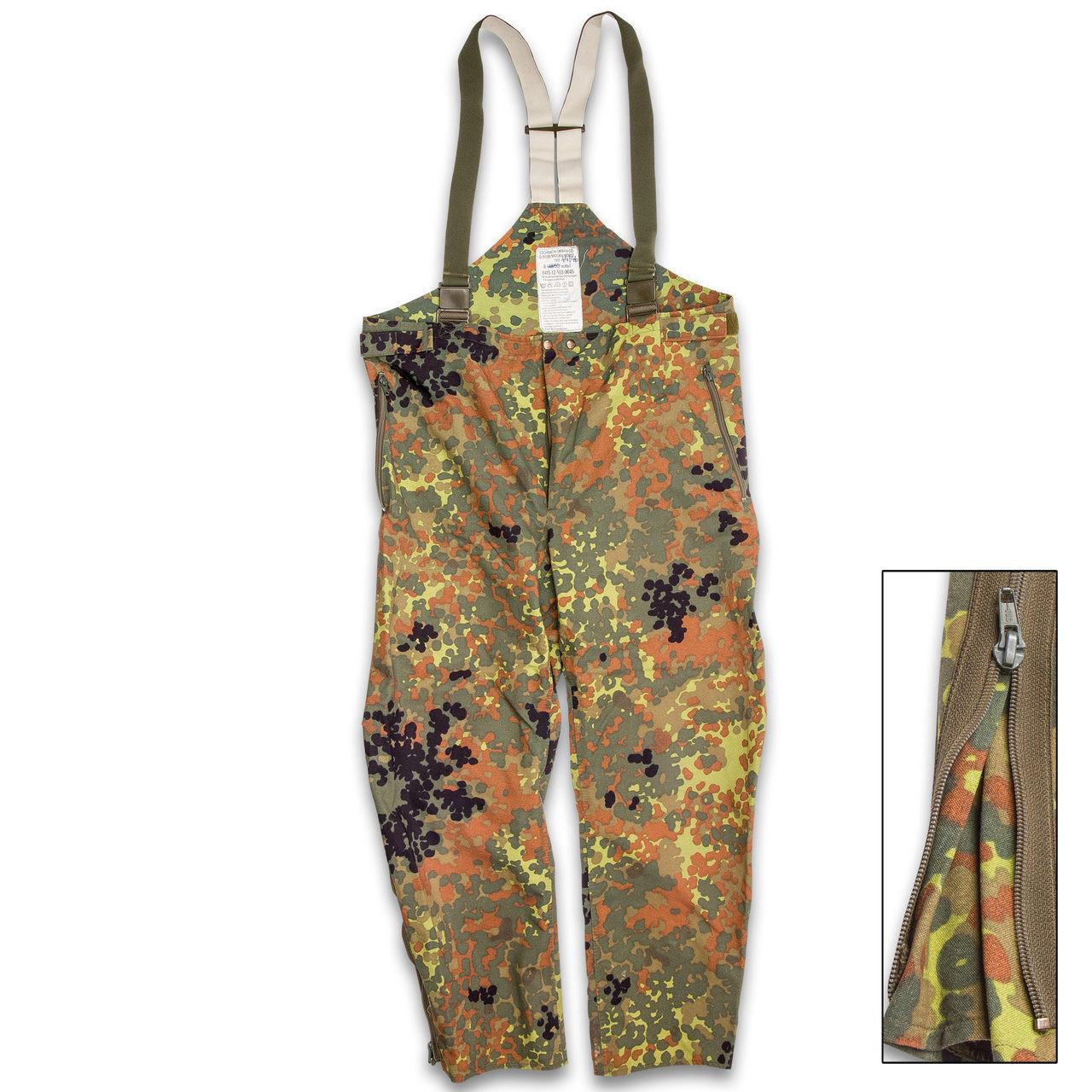 bed923100e5ad German Military Surplus Gore-Tex Wet Weather Pants - Flecktarn ...