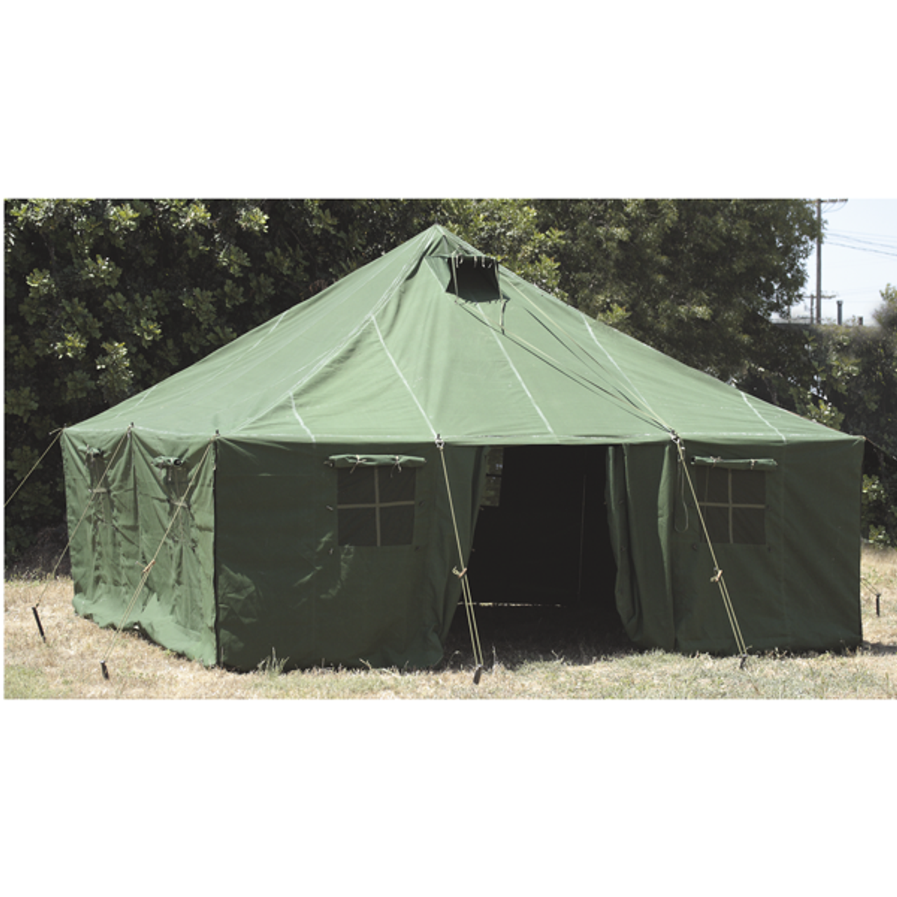 16'x16' General Purpose Canvas Military Style Tent