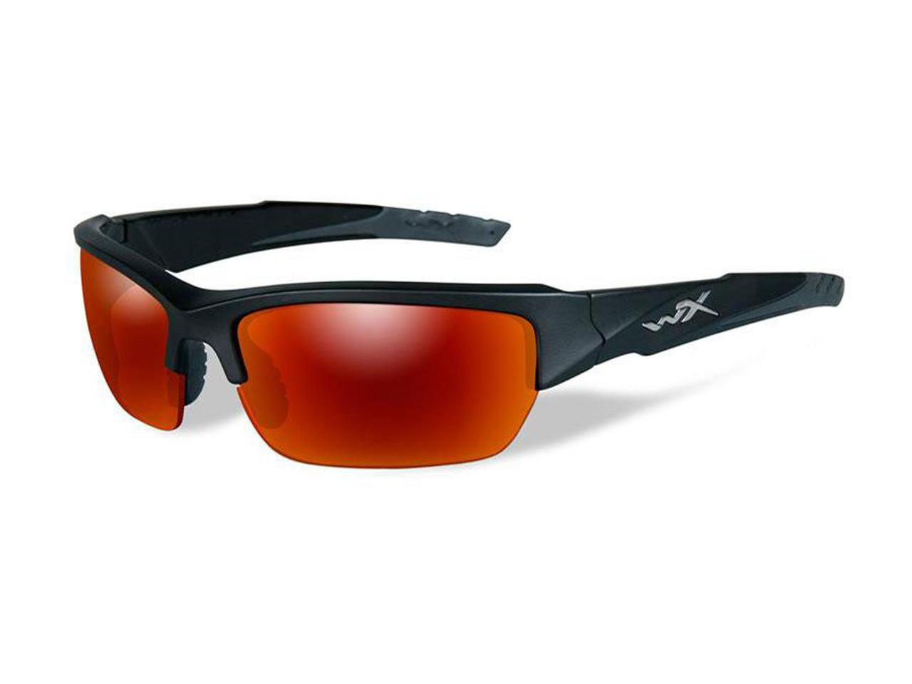 79d5bcf4c1c59 Wiley X WX Valor Polarized Changeable Sunglasses (Color  Polarized Crimson  Mirror lens with Matte