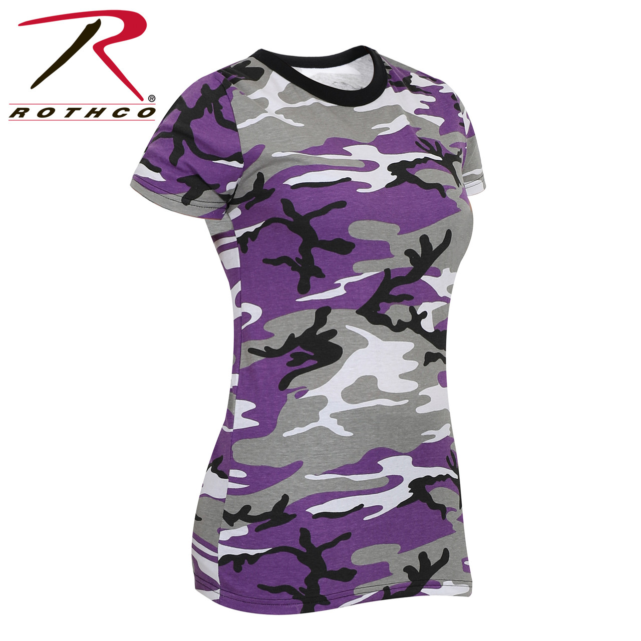 9183dfd2b4e1b Rothco Women's Long Length Camo T-Shirt - Ultra Violet Purple - Hero ...