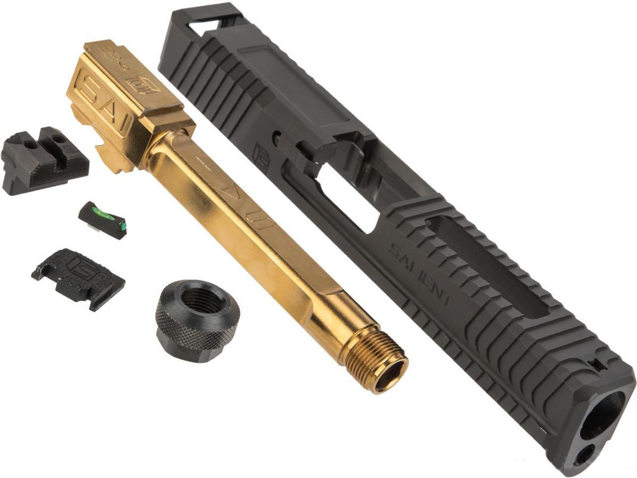 G&P Steel Slide for EMG SAI BLU Gas Blowback Training Pistols (Barrel: Gold  Barrel)