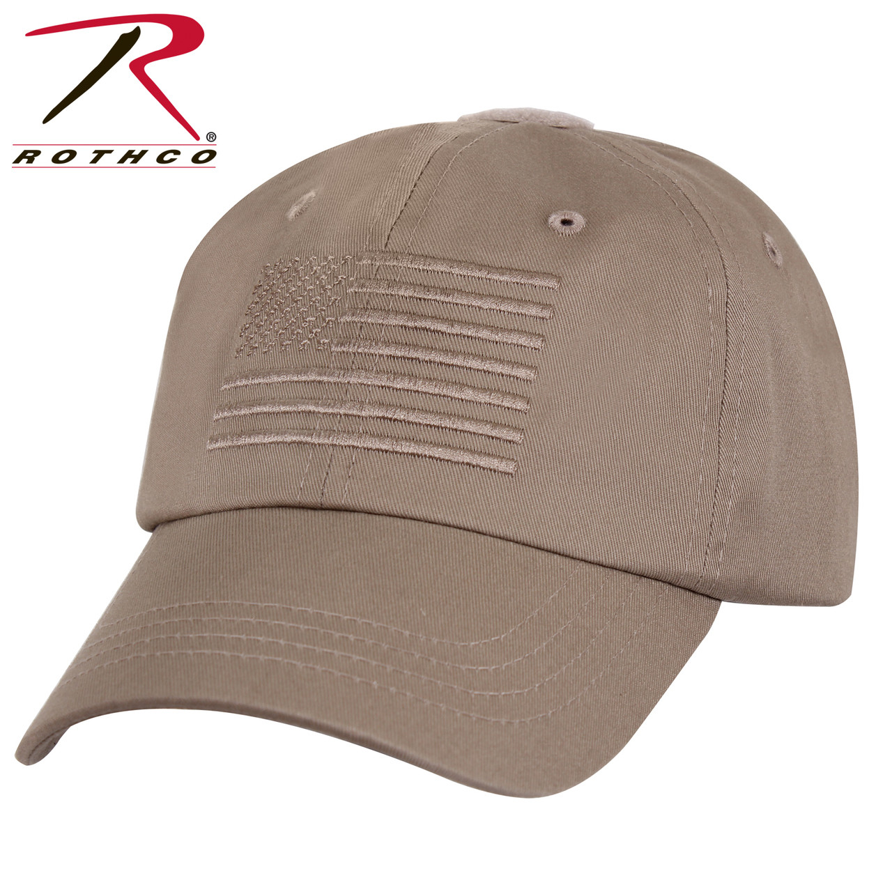 c0a517c065d Rothco Tactical Operator Cap With US Flag - Khaki - Hero Outdoors
