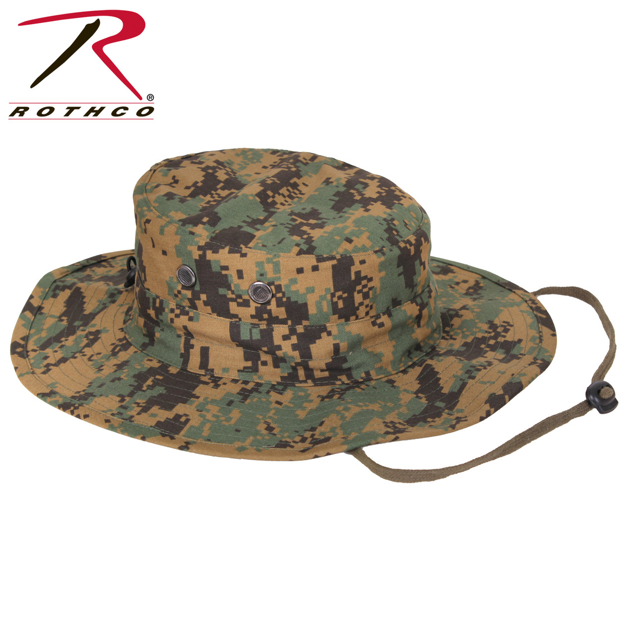 e13775af2cb Rothco Adjustable Boonie Hat - Woodland Digital Camo - Hero Outdoors