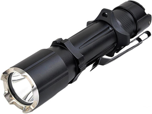 Opsmen FAST 501A Compact High Output Flashlight with Crenulated Bezel (Color: Black)