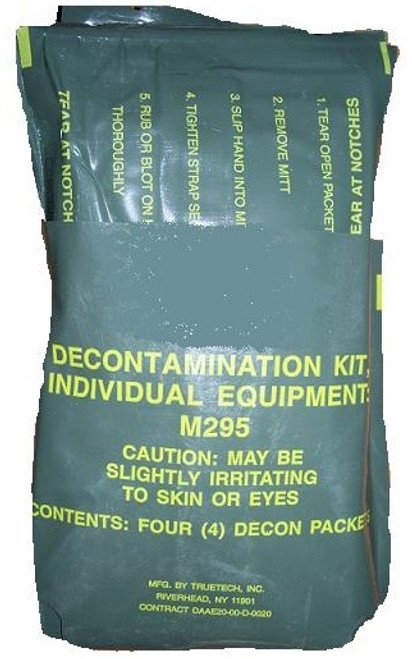 US Armed Forces Issue M295 Individual Equipment Decontamination Mits