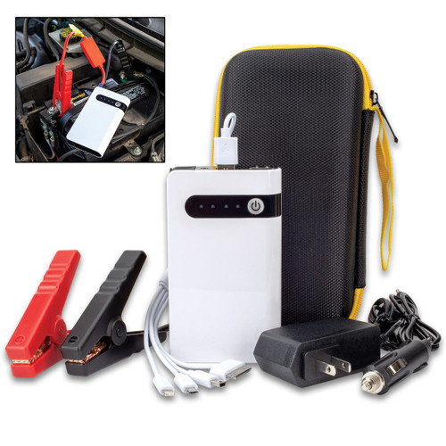 Portable Car Battery Jumper And Power Bank With Case