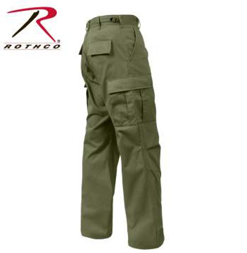 Rothco Relaxed Fit Zipper Fly BDU Pants - Olive Drab
