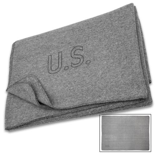 U.S. Forces Style Medic Grey Wool Blanket