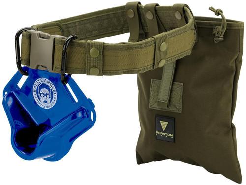 "Battle Angler ""High Speed Operator"" Fishing Fighting Belt System (Model: Bravo Blue Olive)"