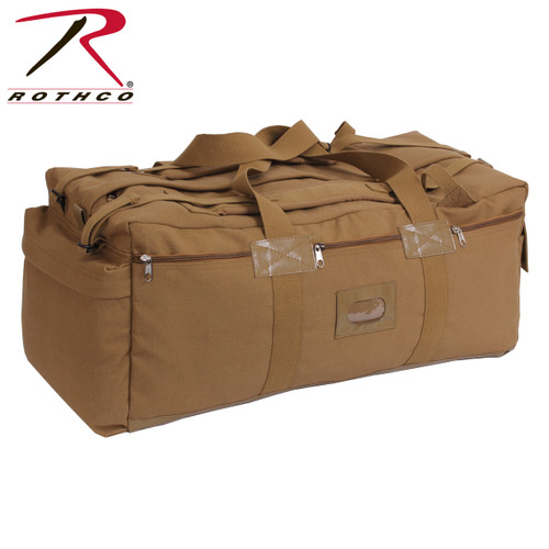 Canvas Mossad Duffle Bag -Coyote Brown