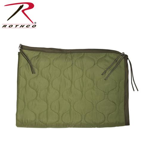 GI Type Rip-Stop Poncho Liner/Ranger Blanket w/Ties - Olive Drab