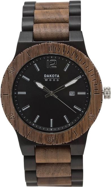 Wood Watch Blk