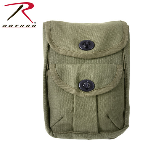 Canvas 2-Pocket Ammo Pouches - Olive Drab