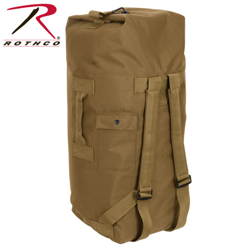 G.I. Type Enhanced Double Strap Duffle Bag -Coyote Brown