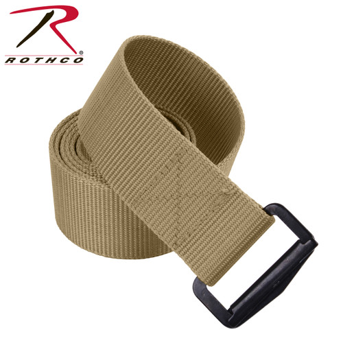 Adjustable Nylon BDU Belt - Khaki