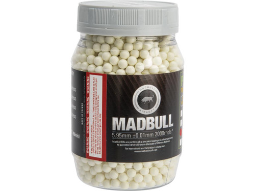 MadBull Precision 6mm PLA Biodegradable Airsoft Tracer BB (Model: .30g Green / 2000rd Bottle)