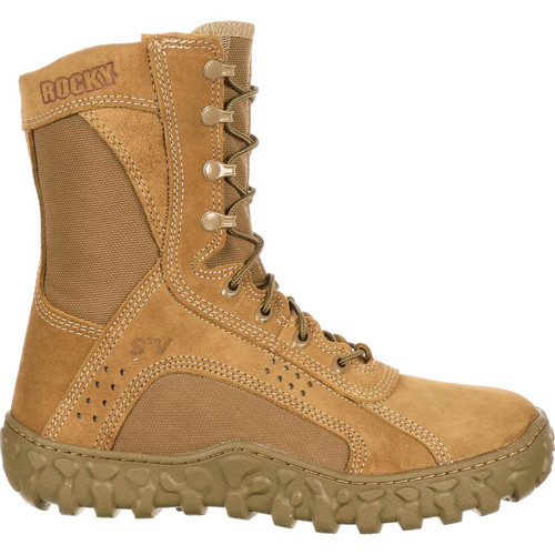 Rocky S2V Vented Military Duty Boots - Coyote Brown