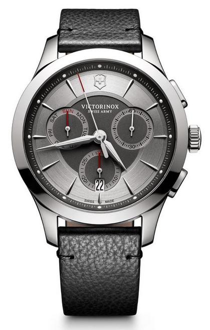 Victorinox Alliance Chronograph Leather Strap - Gray