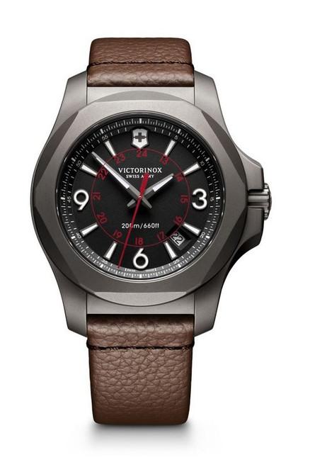 Victorinox I.N.O.X Titanium Leather Strap - Black