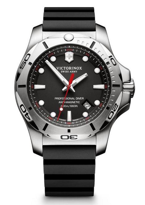 Victorinox I.N.O.X. Professional Diver Rubber Strap - Black