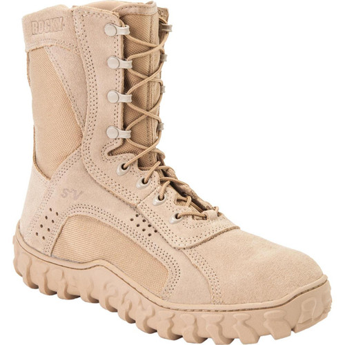 Rocky S2V Vented Military Duty Boots - Tan