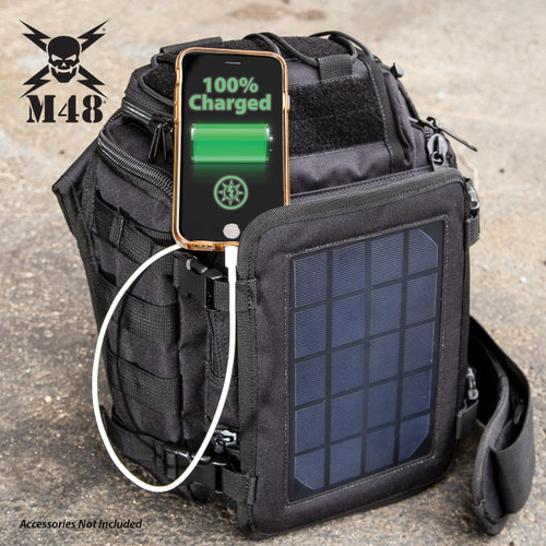 M48 OPS Tactical Solar Panel Sling Pack