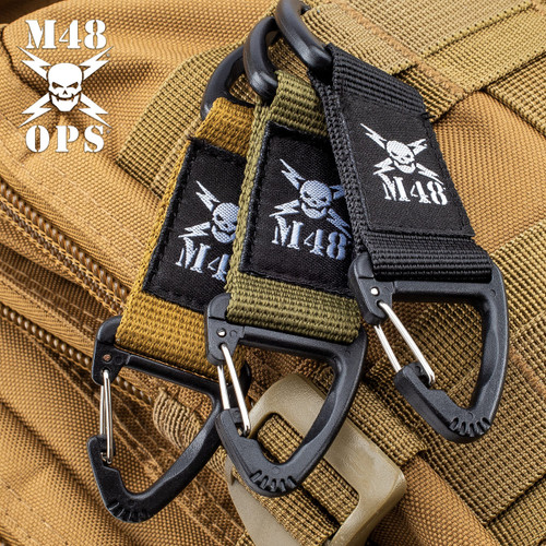 Three Pack Tactical Webbing Clips