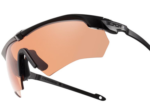 ESS Crossbow Ballistic Eyeshield Package (Color: Black Frame / Clear and HD Copper Lenses)