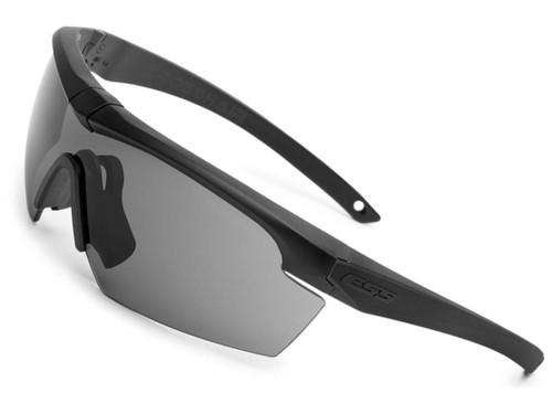 ESS Crosshair Ballistic Eyeshield (Color: Black / Smoke Gray Lens)