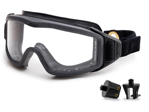 ESS FirePro 1971 FS One Piece Full Seal Goggles with Velcro Snap On/Off Mounting Brackets