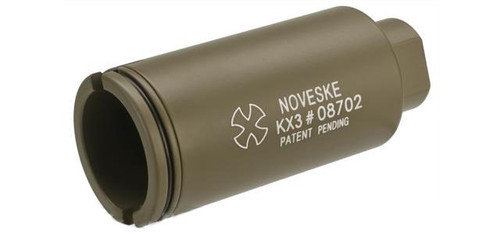Madbull Noveske KX3 Adjustable Sound Amplifier Flashhider (Color: Tan / 14mm Negative)