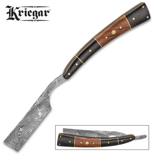 Kriegar Gentleman's Wooden Pocket Razor Knife w/Sheath