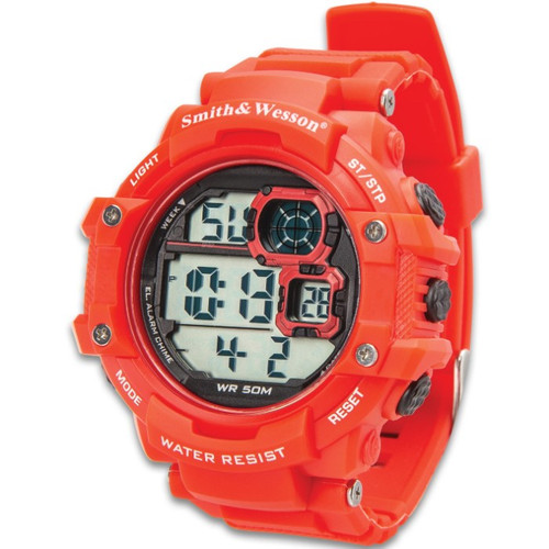 Smith & Wesson Red Tactical Digital Shock Watch