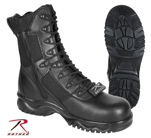 Forced Entry 8'' Side Zip Composite Toe Tactical Boots - Black