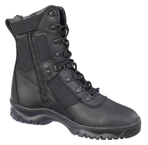 Forced Entry 8'' Side Zip Tactical Boots - Black