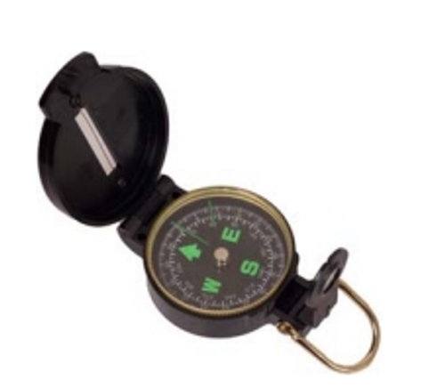 Plastic Lensatic Compass - Black
